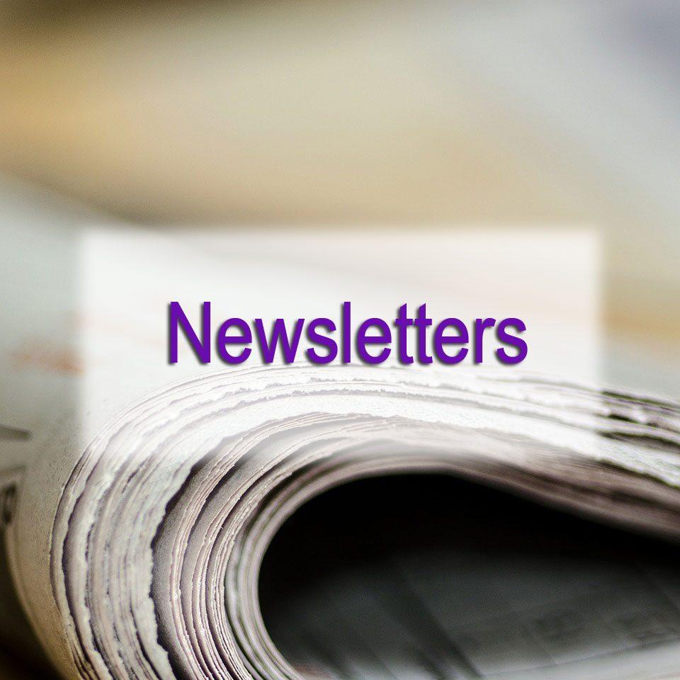 DGMEFM newsletters image of folded newspaper